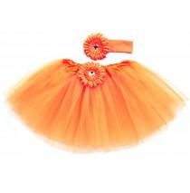 Orange Tutu with Headband -One size