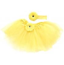 Yellow Tutu with Headband -One size