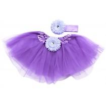 Light Purple Tutu with Headband -One size