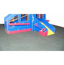 Strictly For Kids Premium Black Rubber Unitary Playground Safety Tile System