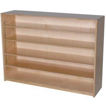 Mainstream Single Storage Unit with 4-Adjustable Shelves, 48''w x 12''d x 36''h - sf1001s4adj12_stor12x36-4sh-360x365.jpg