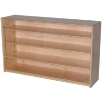Mainstream Single Storage Unit with 3-Adjustable Shelves, 48''w x 12''d x 30''h