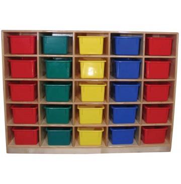 Mainstream Cubbies for 16, 48wx15dx36h (Cubbies for 25 shown) - sf1053-cubbies-25-360x365.jpg