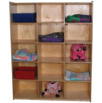 Mainstream Jumbo Cubby Unit for 15, 60''h