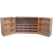 Deluxe Multi-Section Tri-Fold Storage Cabinet, 96''w x 16''d x 36''h