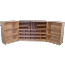 Mainstream Multi-Section Tri-Fold Storage Cabinet, 96''w x 15''d x 36''h