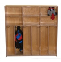 Maple Preschool Divided Lockers for 6, 48''w x 12''d x 48''h (Mainstream shown)