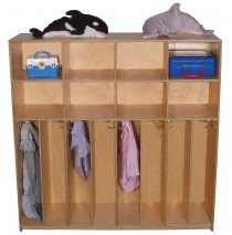 Maple Preschool Divided Lockers for 8, 60''w x 12''d x 48''h (Mainstream shown)