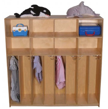 Maple Preschool Divided Lockers for 8, 60''w x 12''d x 48''h (Mainstream shown) - sf1256_psdivlckr_8-360x365.jpg