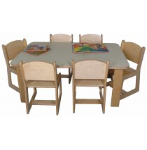 Mainstream Preschool Rect Table 30w x 48d x 21h (Chairs not included)