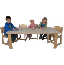 Mainstream Preschool Rect Table 30w x 60d x 20h(Chairs not included)