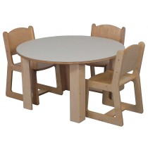 Mainstream School Age 60'' Round Table 26h (20''h, 36'' table shown; chairs not included)