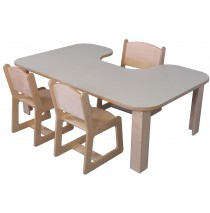 Mainstream Preschool Kidney Table 36d x 60w x 20h (Chairs not included)