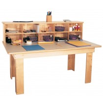 Mainstream Preschool Writing Center with laminate top, 48''w x 28''d x 32''h, 21''h work top