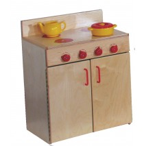 Mainstream Indestructible Preschool Stove, 21-5/8''w x 15''d x 28''h, 24''h stove top