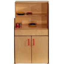 Mainstream Indestructible Preschool Hutch, 21-5/8''w x 15''d x 40''h, 24''h counter top