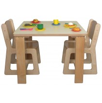 Mainstream SA Housekeeping Table, 26''h & 4-Chairs, 15''h ( Preschool set w/2 chairs shown)