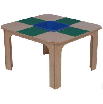 Mainstream School Age Brick Playtable for 4 w/Plastic Storage Bin, 29½''w x 29½''d x 26''h - sf2502p_legotabletub-360x365.jpg
