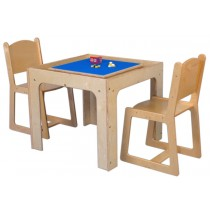 Mainstream Preschool Table Toy Playcenter for 4, 30''w x 30''d x 21''h (School Age shown; chairs not included)