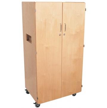 Mainstream Birch Teacher's Cabinet with locking casters, 30''w x 24''d x 60''h - sf3100_teachcabwcast-360x365.jpg