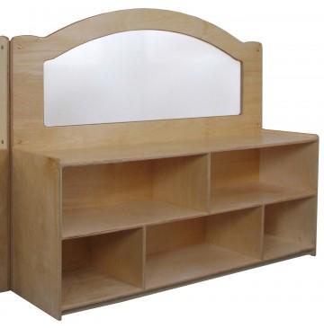 "Mainstream Wave Design Room Divider w/24''h Storage w/2 Shelves & Dividers, 60""w x 15-3/4""d x 52""h - sf3233_60wvrmdiv24str-360x365.jpg"
