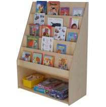 Mainstream School Age Book Display with Storage, 42''w x 19''d x 57''h