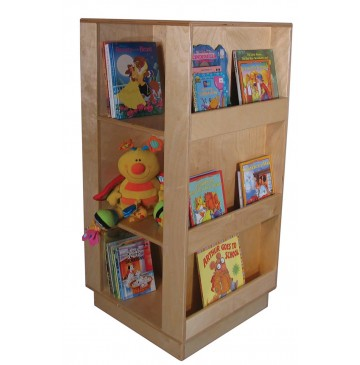 Mainstream Mobile Library Center, 24''w x 24''d x 50''h (shown without casters) - sf357k-library-display-360x365.jpg