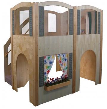 Strictly For Kids Mainstream Explorer 35 Preschool Wave Loft with Beige Carpeting & Steps on Left, 78''w x 98''d x 94''h, 52''h deck - sf5010p_expl35waveloft-l-360x365.jpg