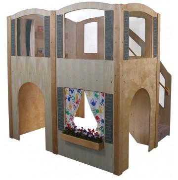 Strictly For Kids Mainstream Explorer 35 Preschool Wave Loft with Blue Carpeting & Steps on Right, 78''w x 98''d x 94''h, 52''h deck - sf5010p_expl35waveloft-r-360x365.jpg