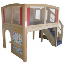 Strictly For Kids Mainstream Preschool Navigator 1 Wave Loft with Blue Carpet