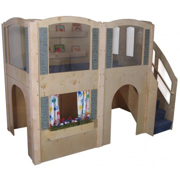 Strictly For Kids Mainstream Preschool Expedition 15 Wave Loft with Blue Carpeting & Steps on Right, 122''w x 65''d x 92''h overall, 52''h deck - sf5060p_exp15wavloft-bl-360x365.jpg