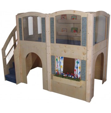 Strictly For Kids Mainstream Preschool Expedition 15 Wave Loft with Blue Carpeting & Steps on Left, 122''w x 65''d x 92''h overall, 52''h deck - sf5060pl_exp15wavleft-bl-360x365.jpg