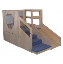 Strictly For Kids Mainstream Infant Toddler 2 Loft A with locking Storage, Beige Carpet (Blue shown)