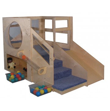 Strictly for Kids Mainstream Infant Toddler 2 Loft B with 2-Storages & Bubble, Beige Carpet (Blue shown) - sf5080-b_adven2itloftb-360x365.jpg