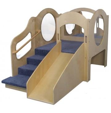 Strictly For Kids Mainstream Adventurer 2 Wave Style Infant-Toddler Loft with Blue Carpet, 48''w x 84''d x 52''h, 20''h deck - sf5080w_adv2waveitloft-1-360x365.jpg