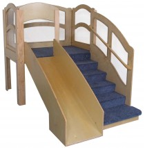 Strictly For Kids Mainstream Adventurer 5 Toddler Wave Loft, 54''w x 86''d x 60''h, 28''h