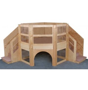 Strictly For Kids Mainstream Toddler Social Climber Corner Loft, Blue carpeting, 102''w x 102''d x 60''h, 28''h (Beige shown) - sf5087_todsocclimbcorn-360x365.jpg