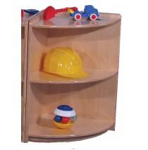 Mainstream Corner Wave Cabinet, 15''w x 15''d x 30''h