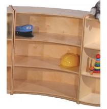 Mainstream Inner Wave Cabinet, 39''w x 15''d x 36''h, 3-shelves