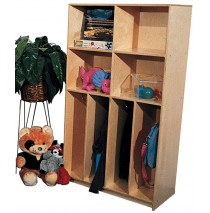 Maple School Age Divided Lockers for 4, 30''w x 15''d x 60''h (Mainstream shown)