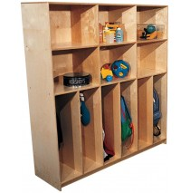 Mainstream School Age Divided Lockers w/Cubbies for 10, 60''w x 15''d x 60''h (Lockers for 6 shown)