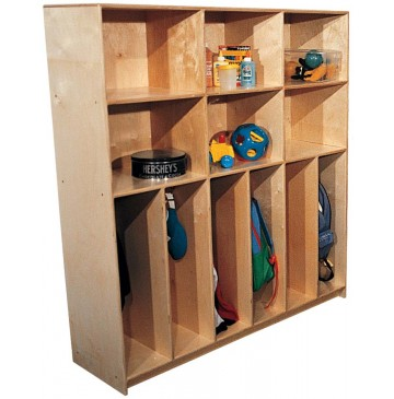 Deluxe School Age Divided Lockers w/Cubbies for 10, 72''w x 15''d x 60''h (Mainstream for 6 shown) - sfk1255sa_stddivlckrcubs_6-360x365.jpg