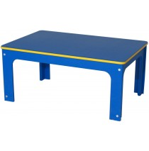 Indoor/Outdoor Toddler Table, Bright Colors, 24''w x 36''d x 14''h
