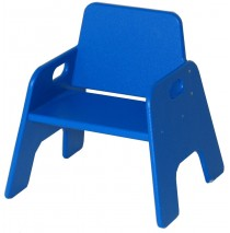 Indoor/Outdoor Toddler Stack Chair, Blue, 6½''h seat