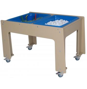Deluxe Polyethylene Toddler Double Sensory Table. (School Age shown) - sfpg330sa_outdblsenstbl-360x365.jpg
