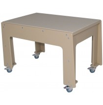 Deluxe Polyethylene Preschool Double Sensory Table. (School Age shown, cover not included)