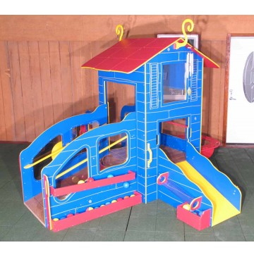 Strictly For Kids Infant-Toddler Cottage Playstation 4 Outdoor Playground, Bright - sfpg465b_cottplaysta4-1-360x365.jpg