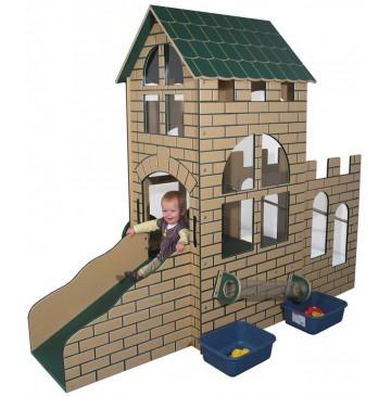 Strictly For Kids Castle Infant/Toddler Outdoor Step 'n Slide, Natural - sfpg510n_castlestepslide_1-360x365.jpg