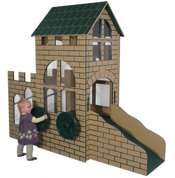 Strictly For Kids Castle Infant/Toddler Outdoor Step 'n Slide, Bright (Natural colors shown) - sfpg510n_castlestepslide_2-360x365.jpg
