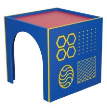 Outdoor Infant/Toddler Socialization Cube w/Texture Panel, Bright, 24''h